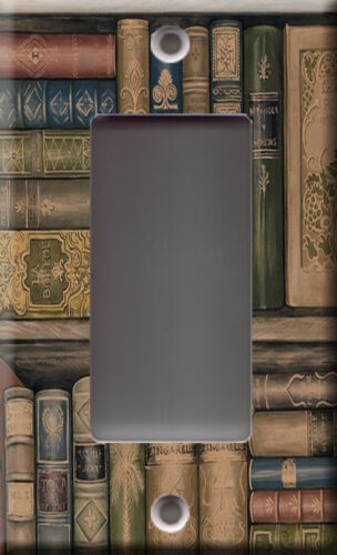School study bookstore Light Switch Plate Cover Library book bookshelves