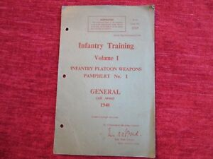 1948 Infantry TrainingBooklet No1 Platoon Weapons General All Arms fc5 - Waterlooville, United Kingdom - 1948 Infantry TrainingBooklet No1 Platoon Weapons General All Arms fc5 - Waterlooville, United Kingdom