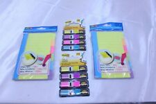 Lot Of 4 Office Items 2 Pks Multi Color Page Flags Amp 2 Pks 4 X 6 Divider Notes