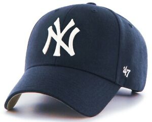 New York Yankees MLB  47 Brand Hat Cap MVP Navy Blue Adult Men s ... 5f9744ee88c