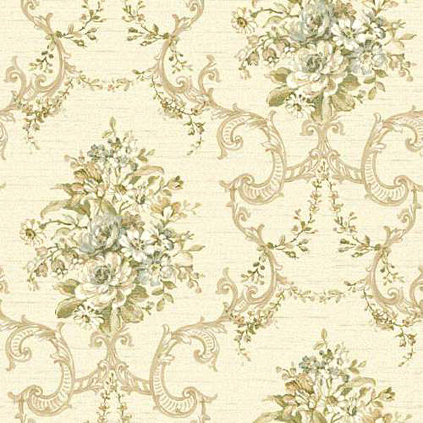 Gorgeous Vintage Floral Scroll Damask Wallpaper NK2079 FREE SHIPPING