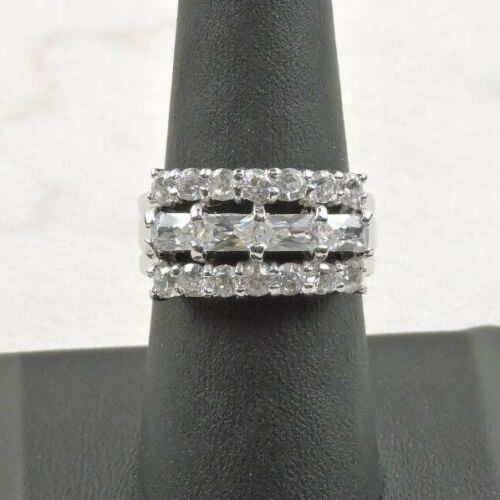 Sterling Silver 3.84 cttw Cubic Zirconia Cocktail Ring Free Gift Packaging