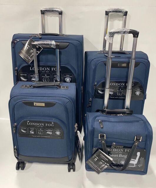 London Fog Roxbury 4pc Lightweight Luggage Set Expandable Navy Blue Spinner For Sale Online Ebay