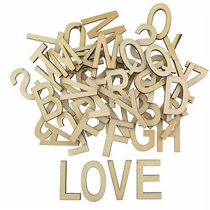 Vintage holzbuchstaben buchstaben aus holz alphabet abc 52tlg basteln natur deko ebay - Buchstaben holz deko ...