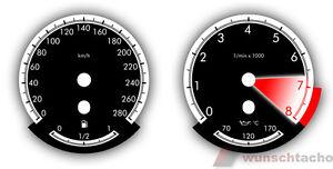 Tachoscheibe-fuer-BMW-E90-E91-E92-E93-E70-E71-E60-E61-E63-E64-Benziner