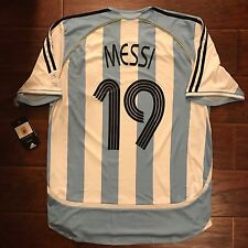 2006 Argentina Home Jersey #19 Messi World Cup Large BNWT