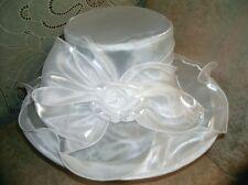 Beautiful Ladies / Women's Kentucky Derby Organza White Low-Priced Church Hat