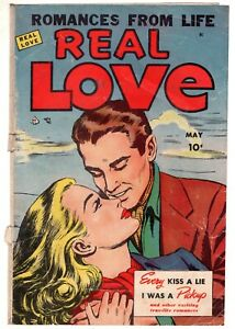 REAL-LOVE-37-1951-ACE-Romance-COVER-ONLY-Golden-Age-Comic-Book