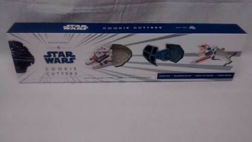 Williams Sonoma Star Wars Cookie Cutters Press-And-Stamp Cutters Set of 4 NEW