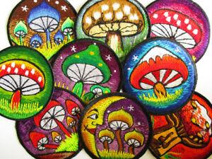 Aufnaeher-PATCH-8-cm-Mushroom-Pilz-Fliegenpilz-psy-mushroom-Himalaya-Nepal-Tibet