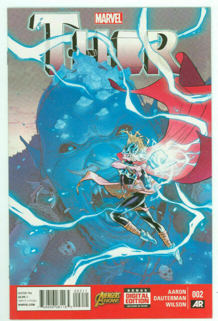 Thor #2 Jane Foster As Thor Goddess of Thunder Comic 1st Print 2014 NM