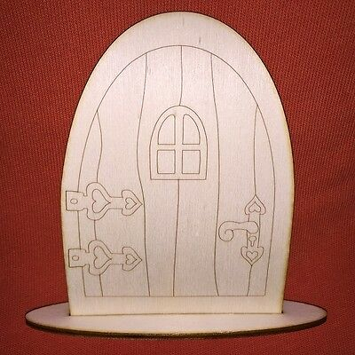 1 x (n1) FAIRY / ELF / PIXIE DOOR WOODEN UNPAINTED EMBELLISHMENT CRAFT SHAPE