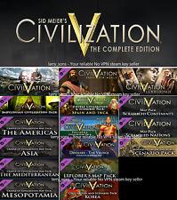 Sid Meier's Civilization V Complete (inc. All DLCs) Steam key NO VPN EU VERSION