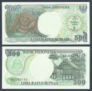 Indonesia-500-Rupiah-1992-Replacement-UNC-500-1992-XBJ260142