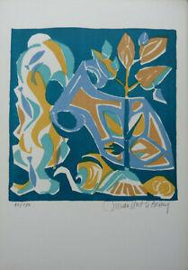 Enthousiaste Michele Van Hout Le Beau (1929) Lithographie Originale Verseau Signee (11) Adopter Une Technologie De Pointe