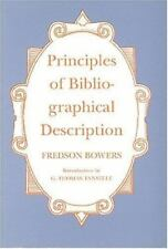 St. Paul's Bibliographies: Principles of Bibliographical Description Vol. 15 by Fredson Bowers (1995, Paperback)
