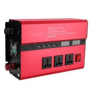 10000W Spannungswandler 12V auf 220V Sinuswelle Wechselrichter mit LED-Anzeige