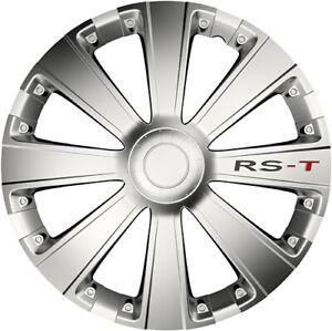 RST BLACK 15 ZOLL 4x RADKAPPEN RS-T SCHWARZ RADZIERBLENDEN FÜR SKODA SEAT
