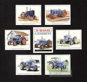 Fordson-Tractors-5000-6Y-Roadless-Ploughmaster-65-E27M-E1A-New-Major-Trade-Cards