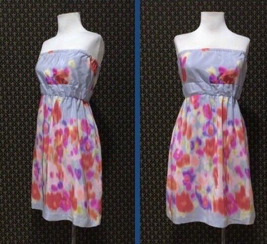 Maeve Anthropologie Silk Rain Wash Waisted Blouson WaterFarbe Dress Größe 0