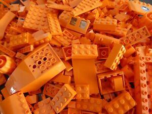 LEGO-100-Teile-ORANGE-Steine-Platten-Sondersteine-Sammlung-Konvolut-Bauteile-kg