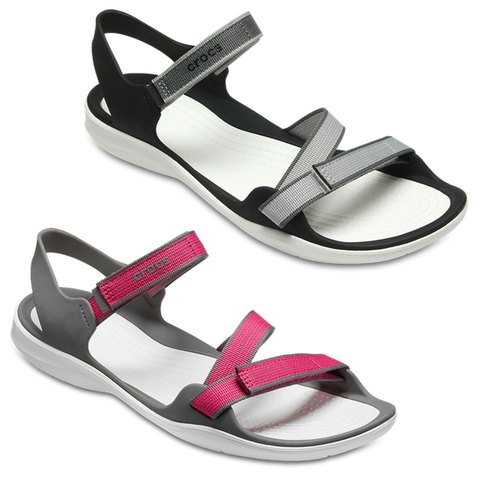 Crocs Swiftwater Gurtband Sandale Leicht Strand Sommer Urlaub Damen UK4-8