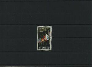 Germany-Saar-Saarland-vintage-yearset-1955-Mi-359-Folded-MH-More-Shop