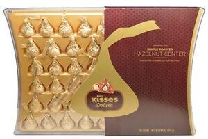 Hersheys kisses deluxe hazelnut center chocolate gift box 50 count image is loading hershey 039 s kisses deluxe hazelnut center chocolate negle Choice Image