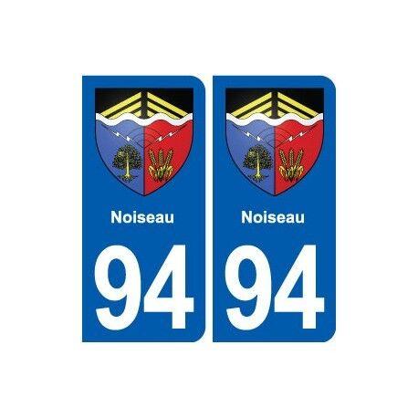 94 Noiseau blason autocollant plaque stickers ville -  Angles : arrondis