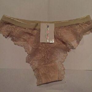 String-dentelle-HN-beige-Taille-40-42-Neuf-avec-etiquette
