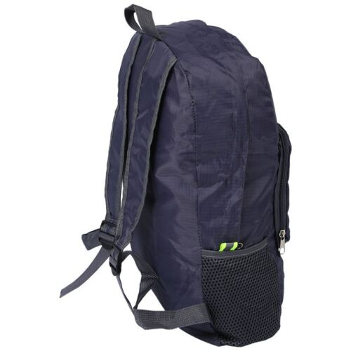 Q4Z7 grey Lightweight Foldable Waterproof Backpack 20L Travel Bag Rucksack