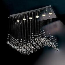 NEW Modern Wave Crystal Pendant Light Ceiling Lamp Chandelier Lighting Evrosvet