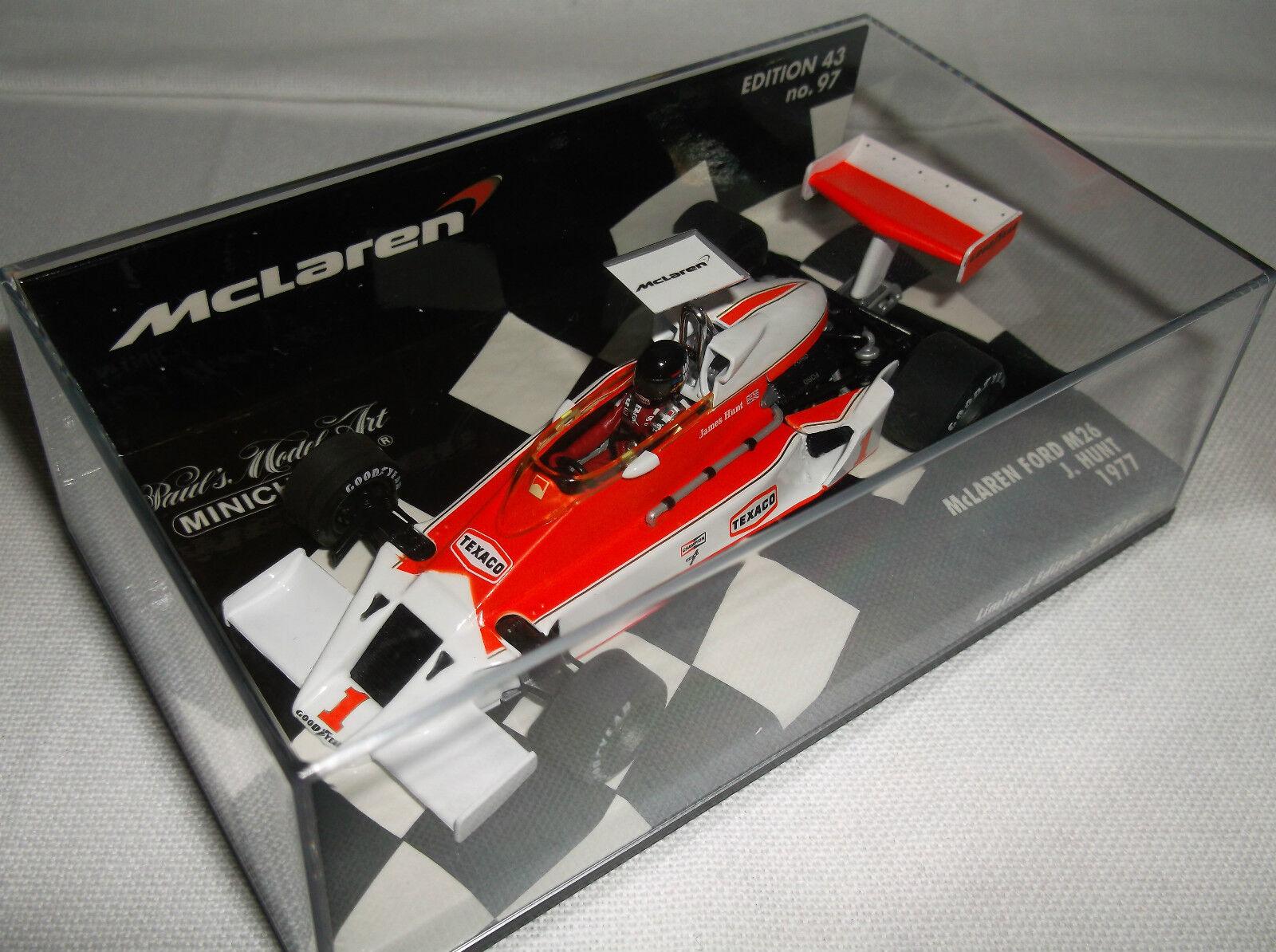 BRAND NEW MINICHAMPS  J. Hunt  McLaren Ford M26  F1 GP 1977