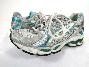 WOMENS ASICS GEL KAYANO 17 RUNNING SHOES WHITE PINK SILVER GRAY T150N SIZE 8 | eBay