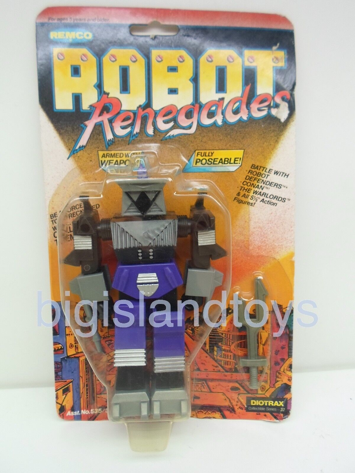 Robot Defenders & Renegades Remco 1982 Diotrax Action Figure Sealed