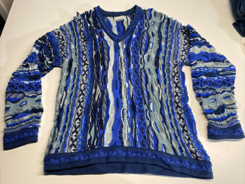 Mens COOGI Sweater Blue Size XL Notorious BIG 90's