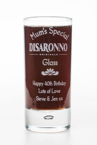 Engraved DISARONNO Highball Glass Gift 18th//21st//30th//40th//Mum//Nan Birthday GD