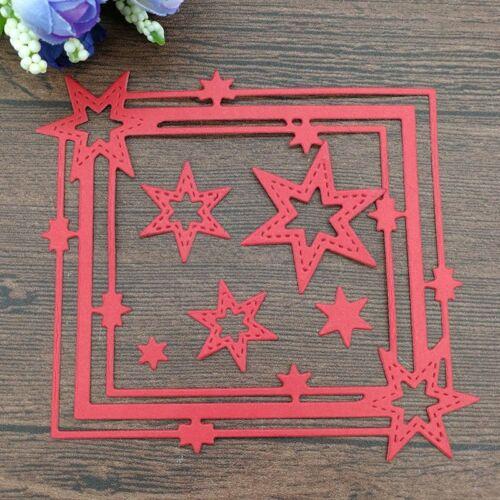 Star Frame Metal Cutting Dies Scrapbooking Embossing Album Card Crafts Decor DIY