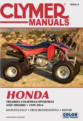 Paperback 1999-2014 Honda TRX400ex 400 ex TRX400X repair manual ...