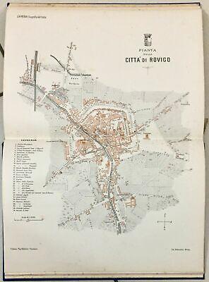 Cartina Dell Italia Rovigo.1901 Pianta Della Citta Di Rovigo Carta Topografica Ebay