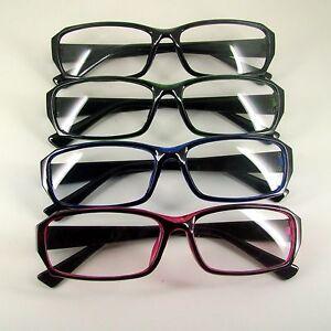 7e81722dbe9c Image is loading Fashion-Eyewear-Frames-Black-Blue-Red-Green-Rectangular-
