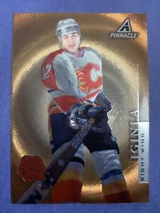 1997-98-Pinnacle-Artists-Proof-PP31-Jarome-Iginla-Calgary-Flame-First-Year-Card