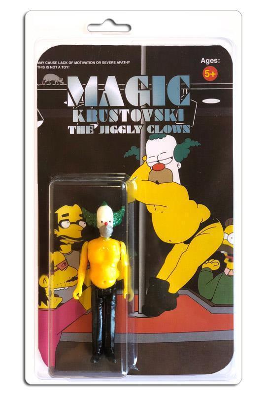 Magic krustovski jiggly krusty der clown harz abbildung sdcc 2018