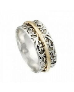 925 Silver & Gold-Filled Spinning Ring