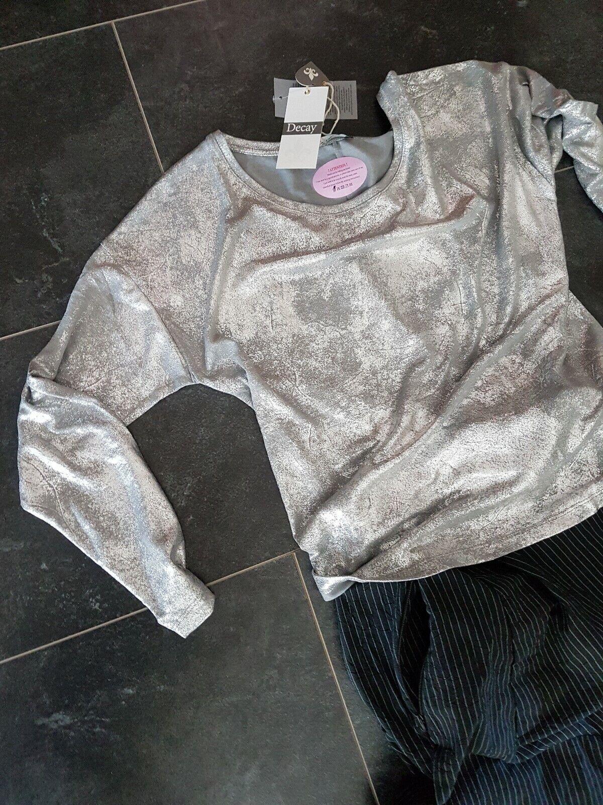 DECAY   Sweater   Pulli   Shirt   GRAU SILBER        TRAUMTEIL   Gr.XL
