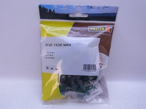 Lot 42564FALLER HO 181602 3 petits sapins-Little Fir Trees NEUF dans neuf dans sa boîte