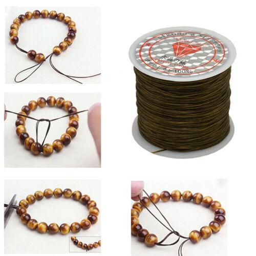 50M starkes elastisches Schnur Drahtseil Armband Halsketten Schnur Korn 0.5mmTPI