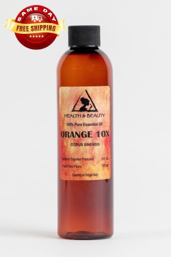 ORANGE 10X ESSENTIAL OIL ORGANIC AROMATHERAPY by H&B Oils Center 100% PURE 8 OZ