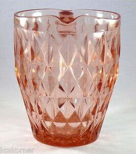 Vintage-Jeannette-Glass-Windsor-Diamond-Pitcher-Pink-Depressionware-52-Oz