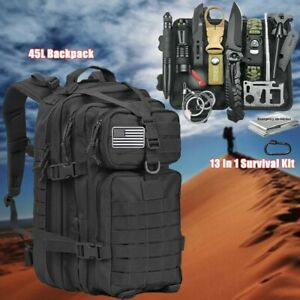 Survival Outdoor Kits Military Tactical Backpack EDC Emergency Gear Camping Tool